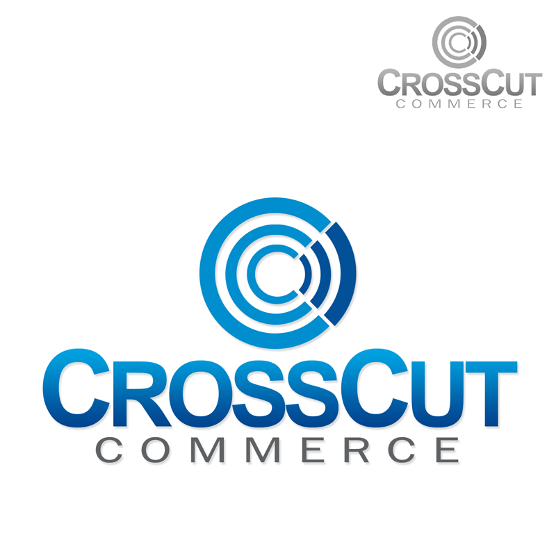 Logo Design by Robert Turla - Entry No. 6 in the Logo Design Contest New Logo Design for CrossCut Commerce.