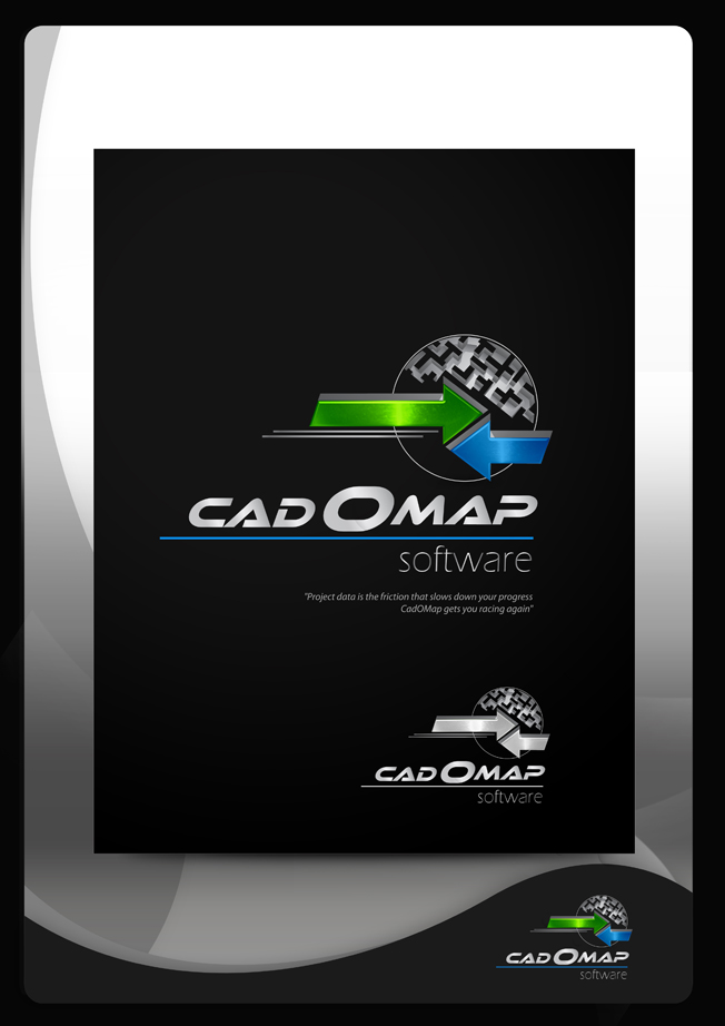 Logo Design by Mark Anthony Moreto Jordan - Entry No. 168 in the Logo Design Contest Captivating Logo Design for CadOMap software product.