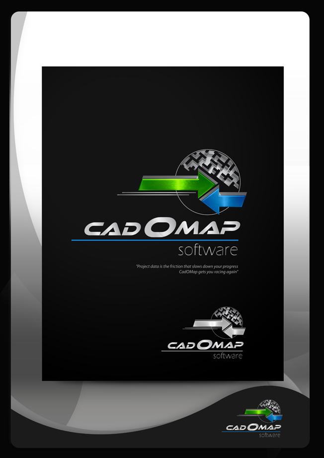 Logo Design by Mark Anthony Moreto Jordan - Entry No. 168 in the Logo Design Contest Captivating Logo Design for CadOMap software product.