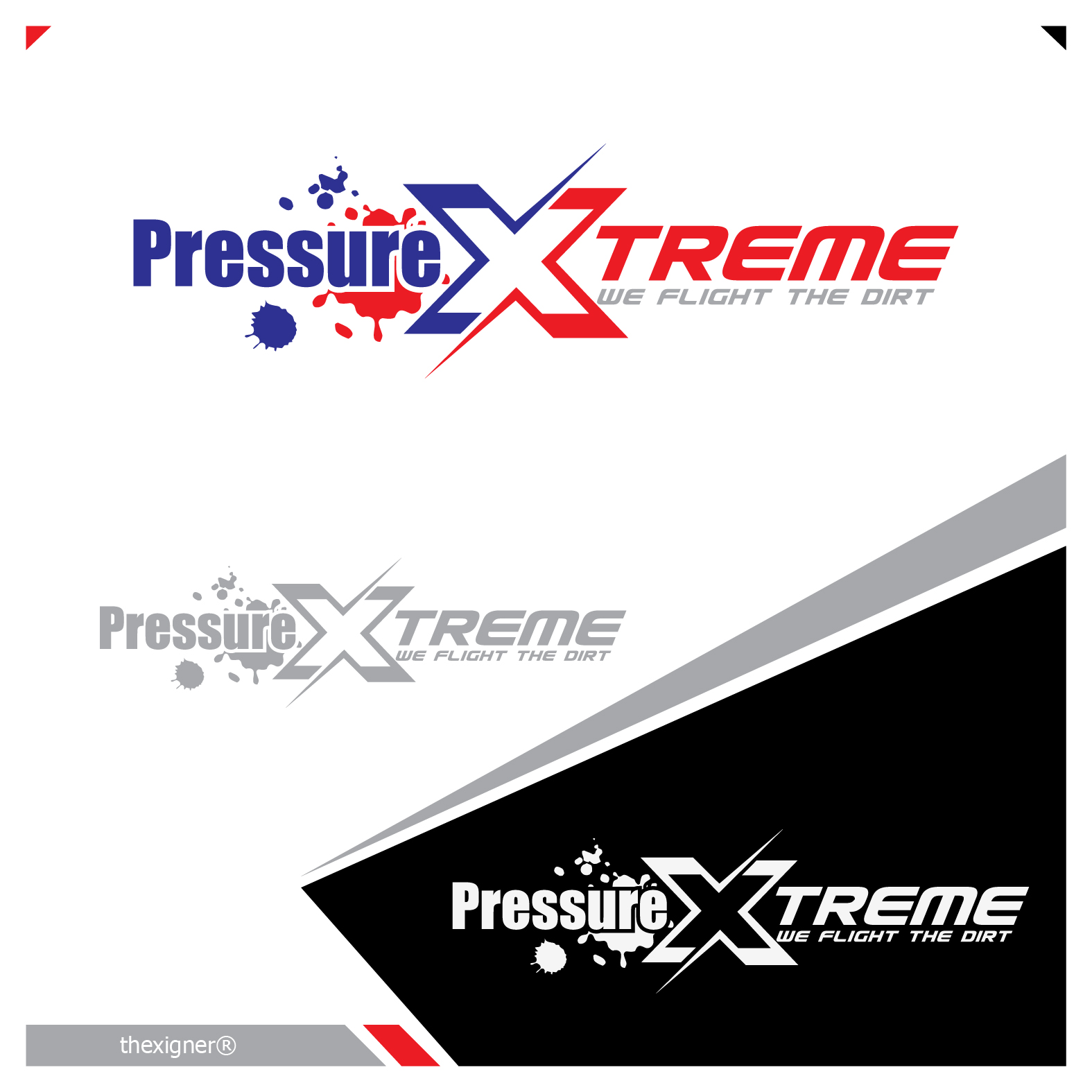 Logo Design by lagalag - Entry No. 21 in the Logo Design Contest New Logo Design for PRESSUREXTREME.