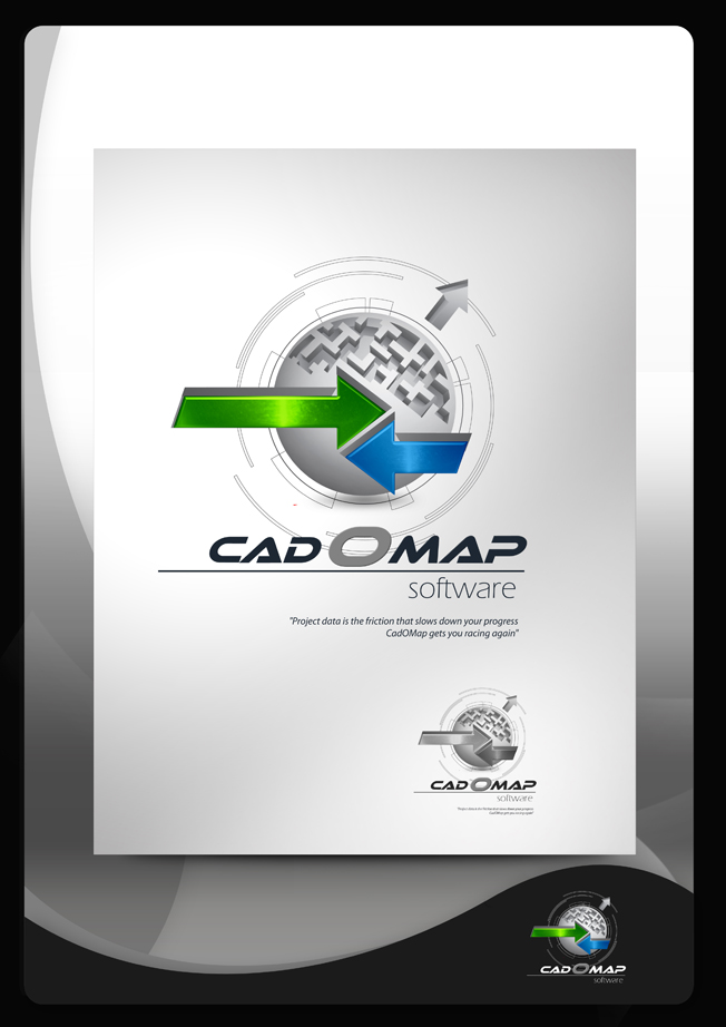 Logo Design by Mark Anthony Moreto Jordan - Entry No. 169 in the Logo Design Contest Captivating Logo Design for CadOMap software product.