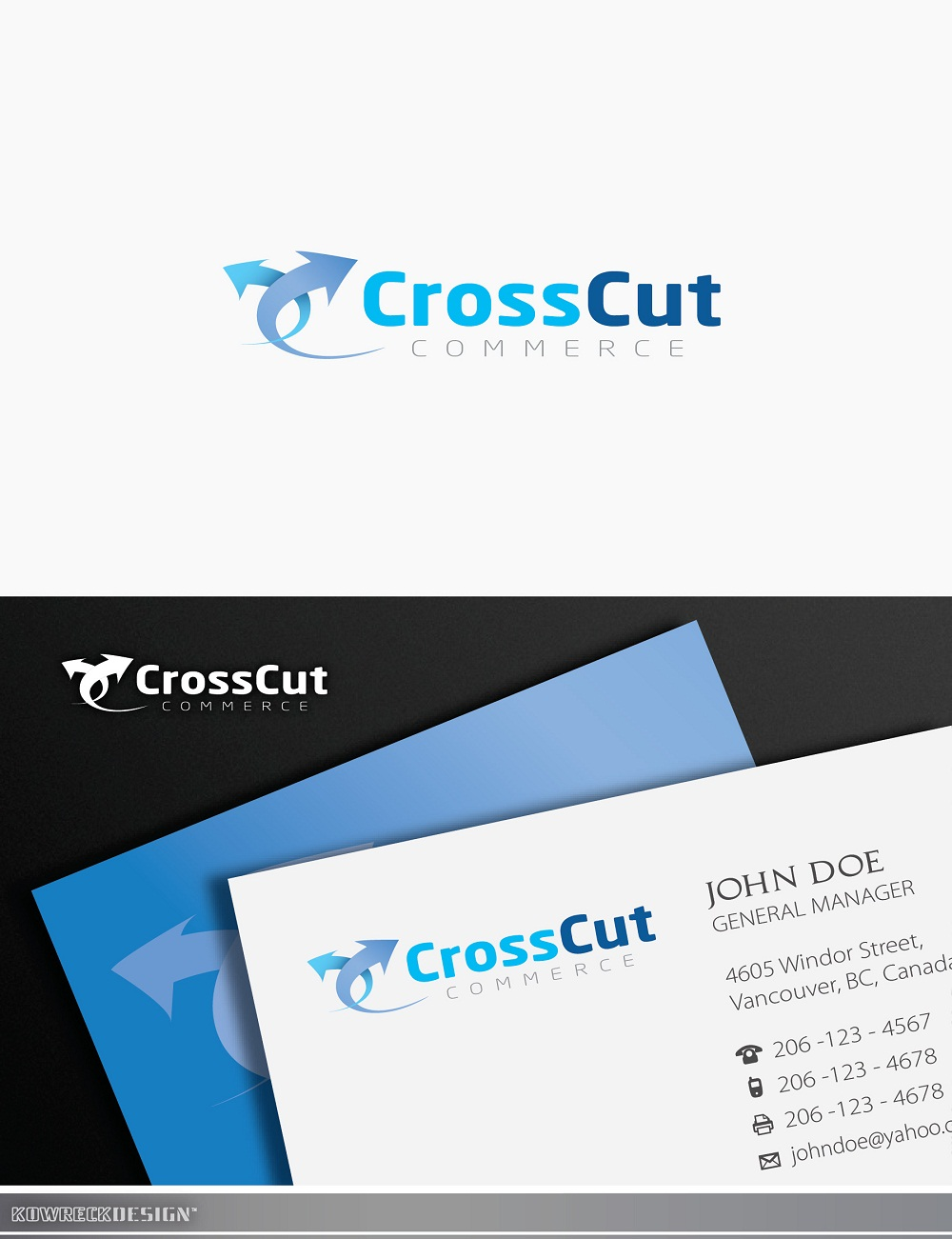Logo Design by kowreck - Entry No. 8 in the Logo Design Contest New Logo Design for CrossCut Commerce.
