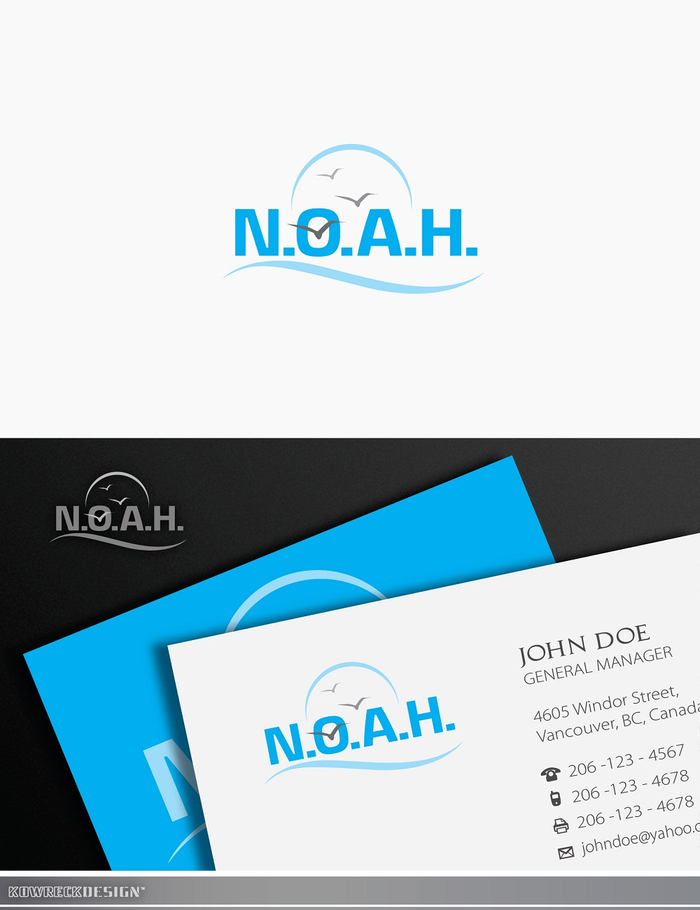 Logo Design by kowreck - Entry No. 13 in the Logo Design Contest Fun Logo Design for N.O.A.H..