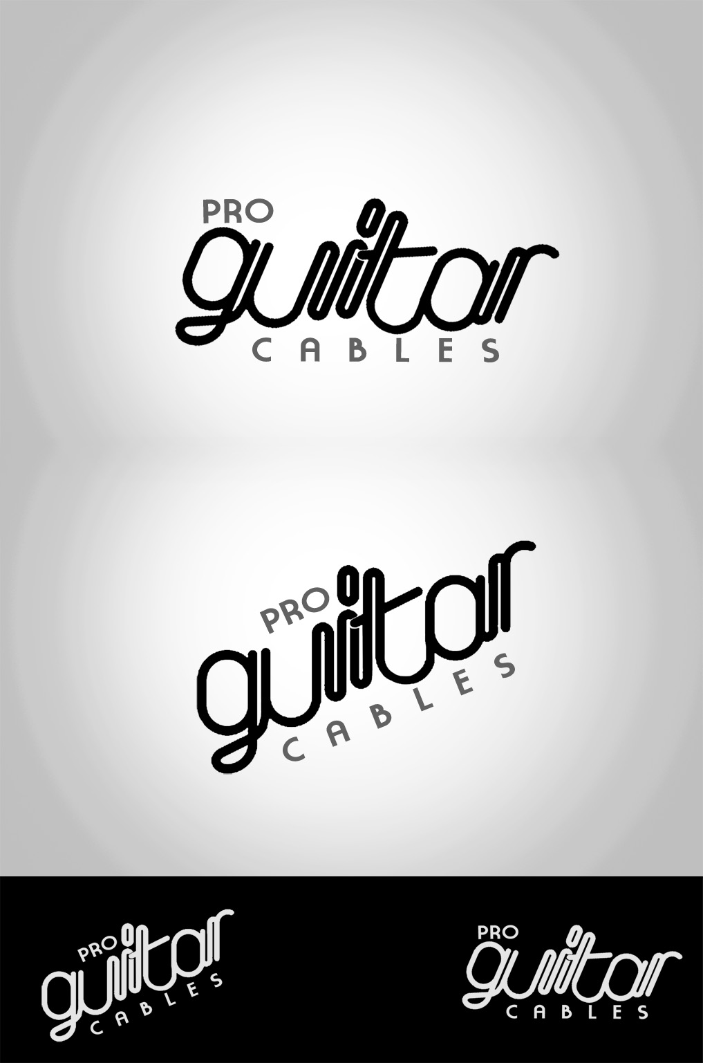 Logo Design by Shimmer Shine - Entry No. 39 in the Logo Design Contest Pro Guitar Cables Logo Design.
