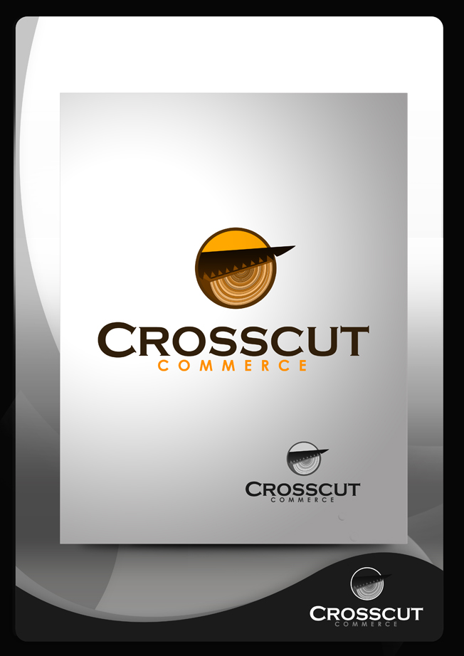 Logo Design by Mark Anthony Moreto Jordan - Entry No. 22 in the Logo Design Contest New Logo Design for CrossCut Commerce.