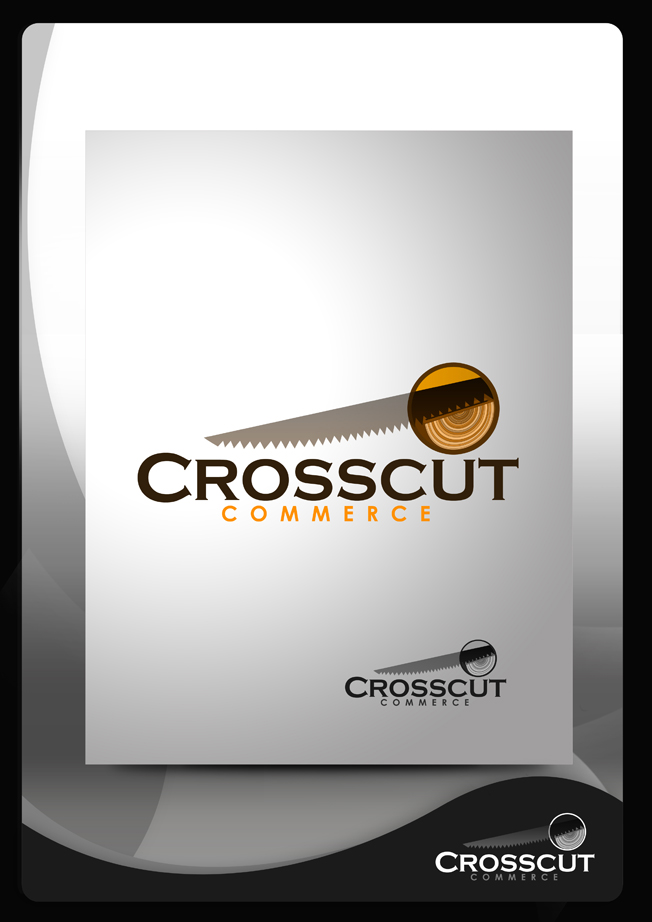 Logo Design by Mark Anthony Moreto Jordan - Entry No. 24 in the Logo Design Contest New Logo Design for CrossCut Commerce.