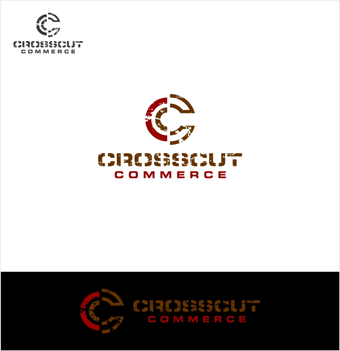 Logo Design by haidu - Entry No. 25 in the Logo Design Contest New Logo Design for CrossCut Commerce.