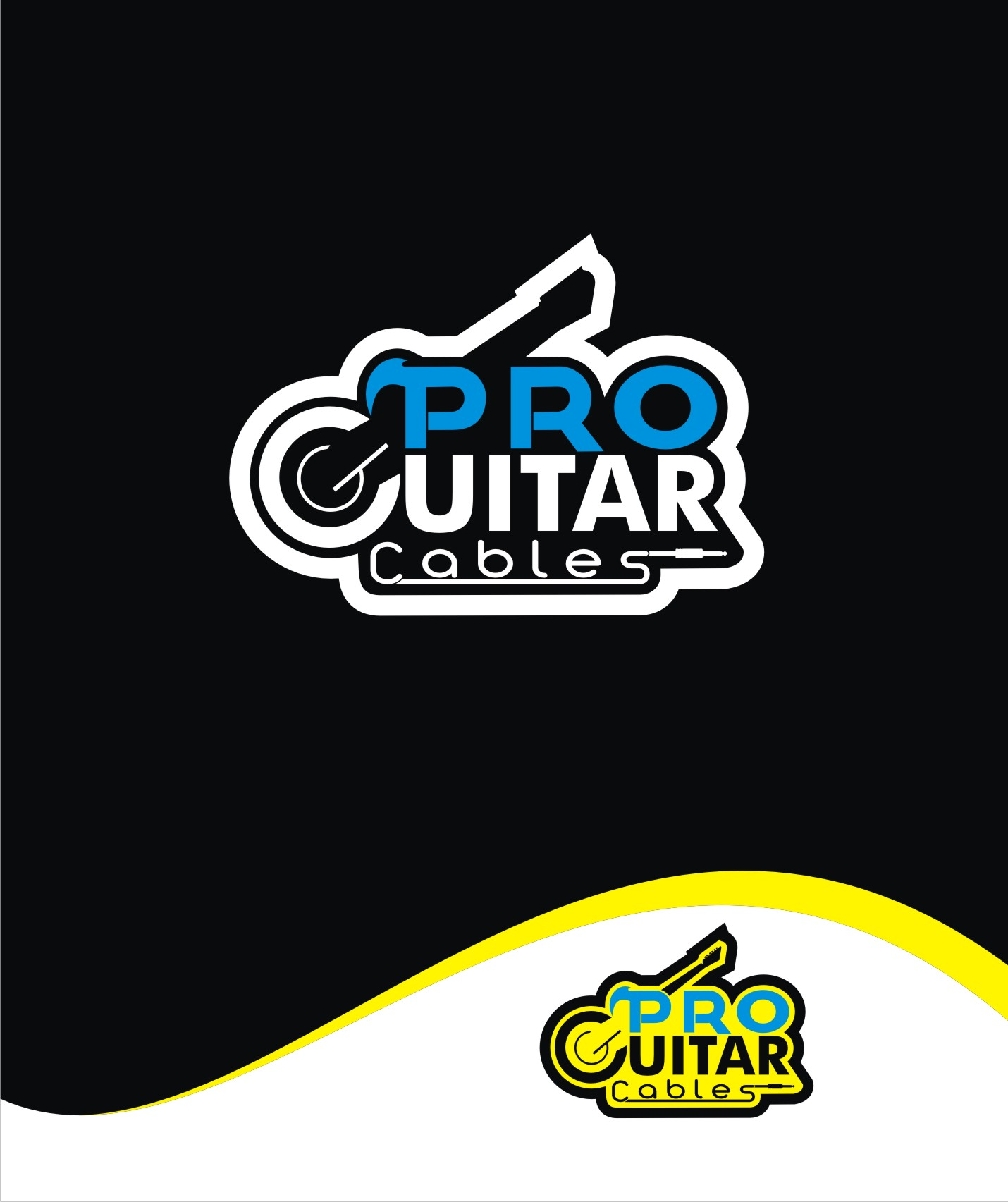 Logo Design by Private User - Entry No. 42 in the Logo Design Contest Pro Guitar Cables Logo Design.