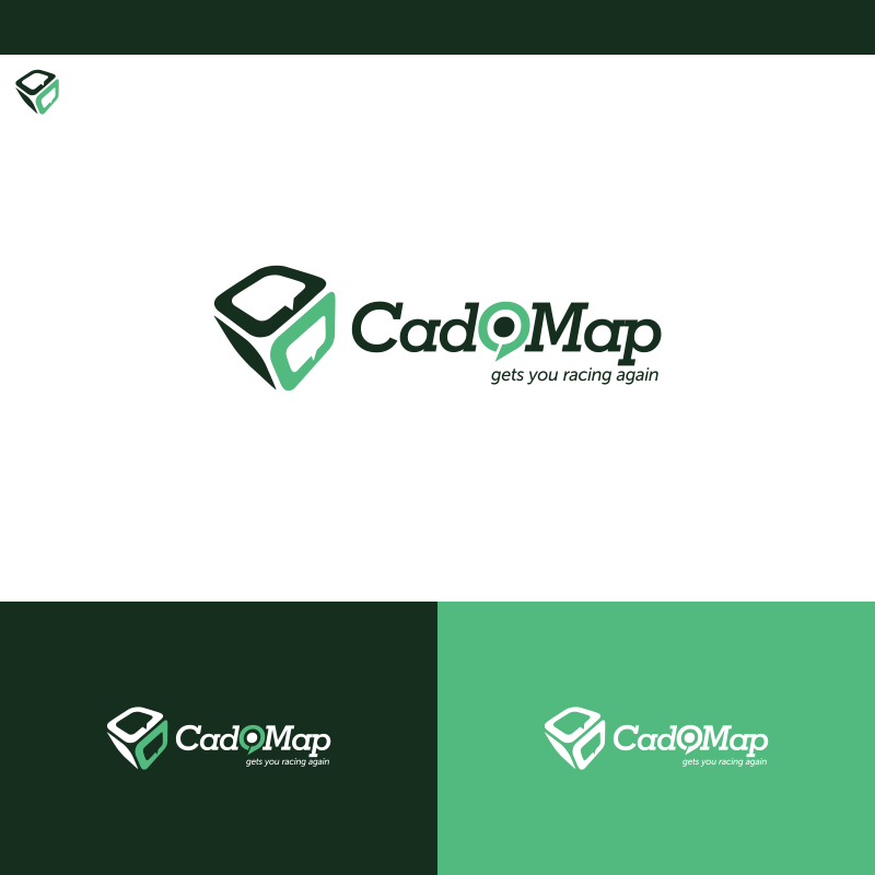 Logo Design by Private User - Entry No. 182 in the Logo Design Contest Captivating Logo Design for CadOMap software product.