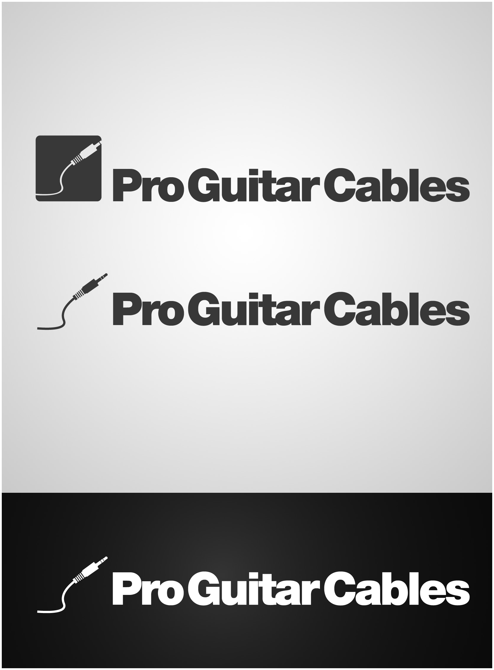 Logo Design by gkonta - Entry No. 59 in the Logo Design Contest Pro Guitar Cables Logo Design.