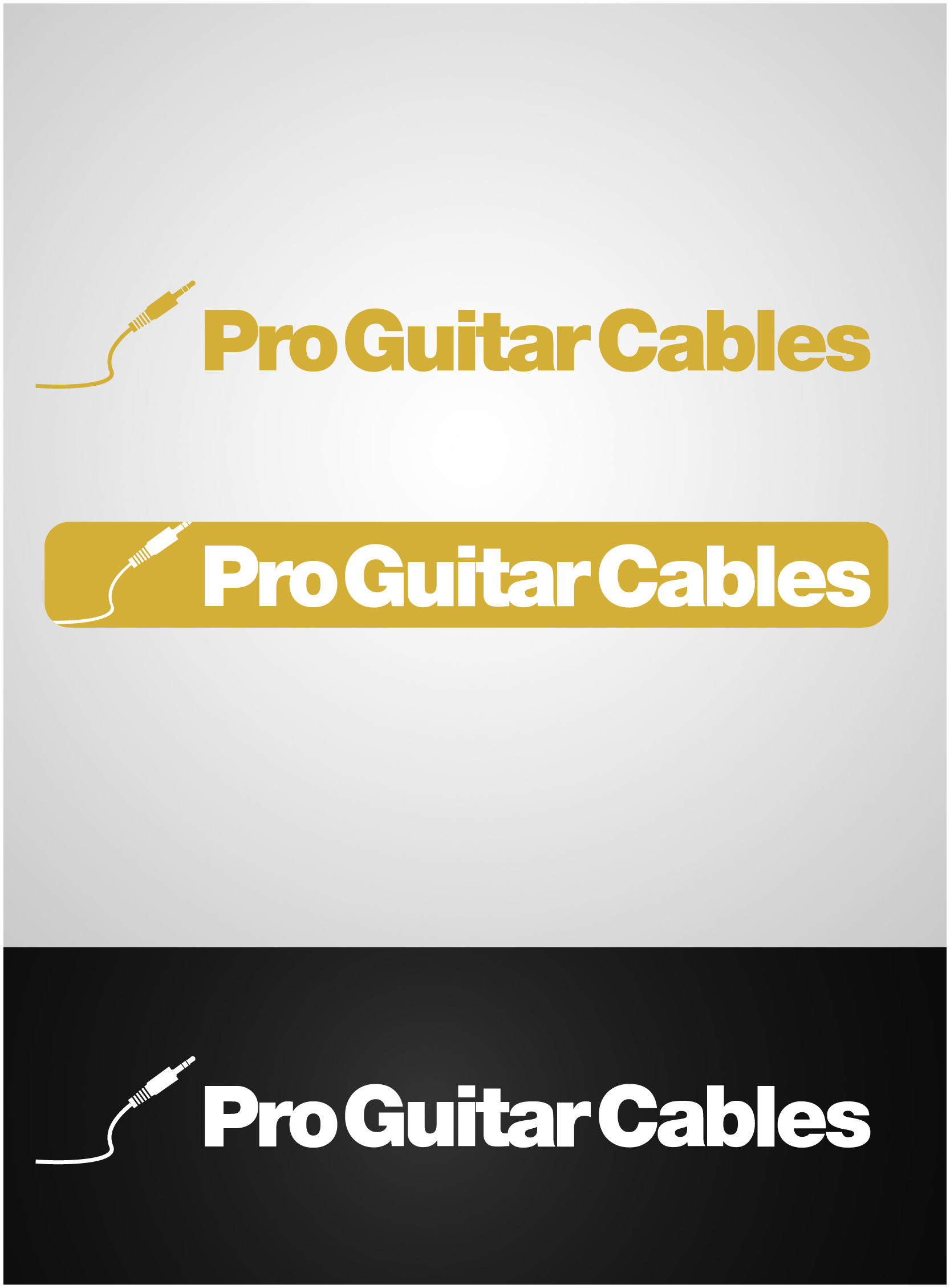 Logo Design by gkonta - Entry No. 60 in the Logo Design Contest Pro Guitar Cables Logo Design.