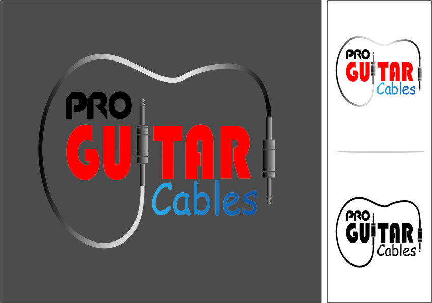 Logo Design by RasYa Muhammad Athaya - Entry No. 65 in the Logo Design Contest Pro Guitar Cables Logo Design.