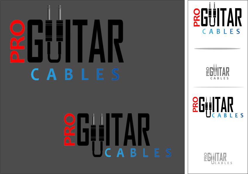 Logo Design by Ngepet_art - Entry No. 66 in the Logo Design Contest Pro Guitar Cables Logo Design.