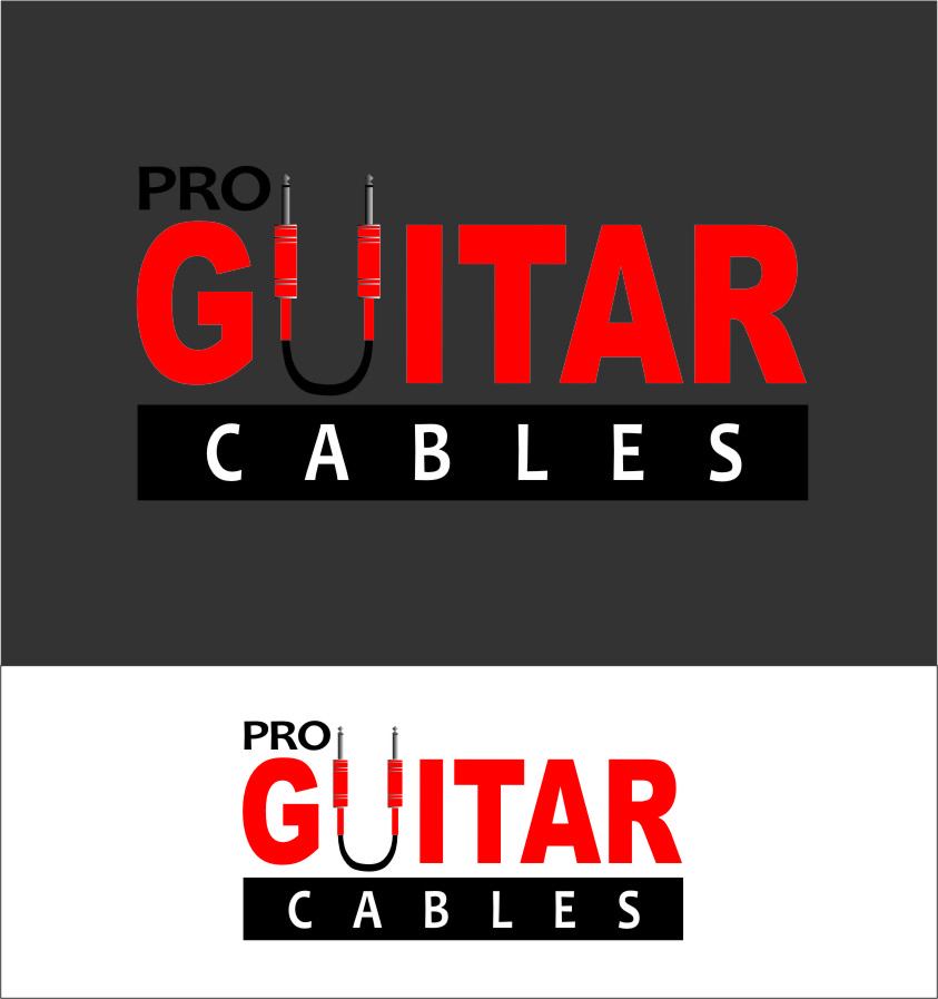 Logo Design by Ngepet_art - Entry No. 70 in the Logo Design Contest Pro Guitar Cables Logo Design.