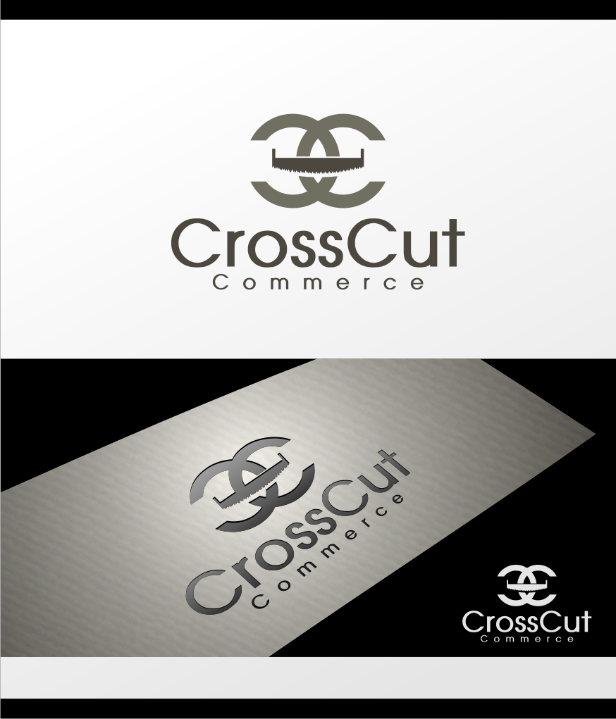 Logo Design by graphicleaf - Entry No. 37 in the Logo Design Contest New Logo Design for CrossCut Commerce.