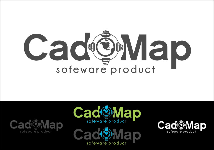 Logo Design by RasYa Muhammad Athaya - Entry No. 189 in the Logo Design Contest Captivating Logo Design for CadOMap software product.