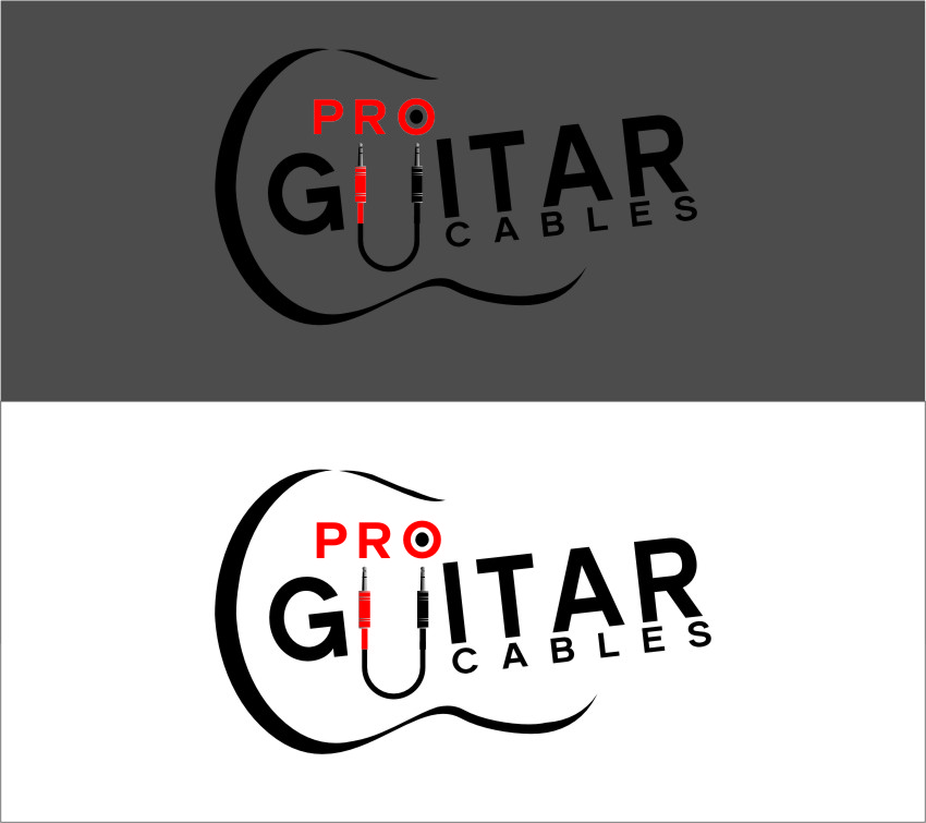 Logo Design by RasYa Muhammad Athaya - Entry No. 77 in the Logo Design Contest Pro Guitar Cables Logo Design.