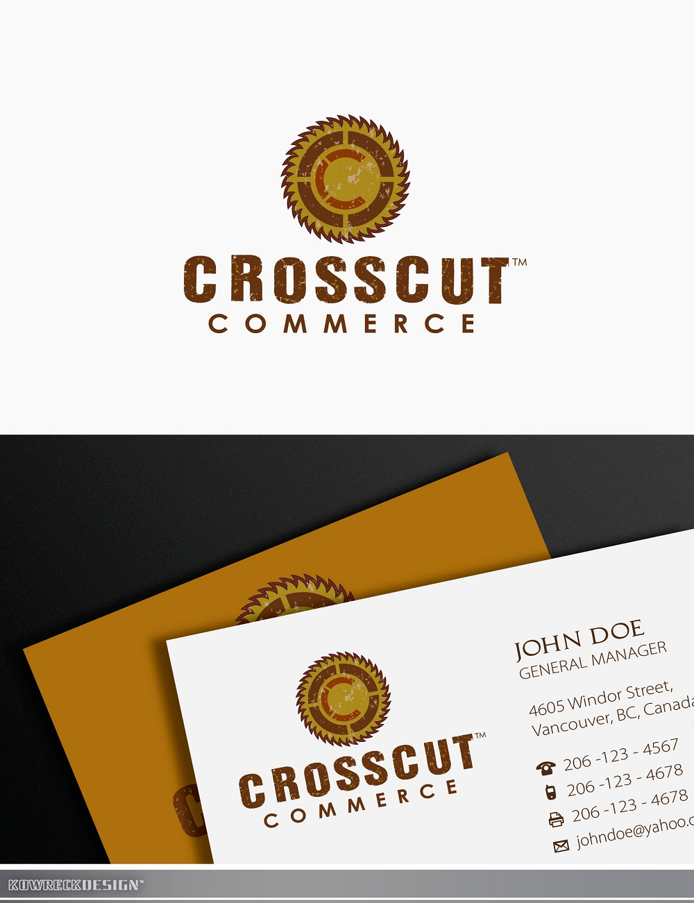 Logo Design by kowreck - Entry No. 47 in the Logo Design Contest New Logo Design for CrossCut Commerce.