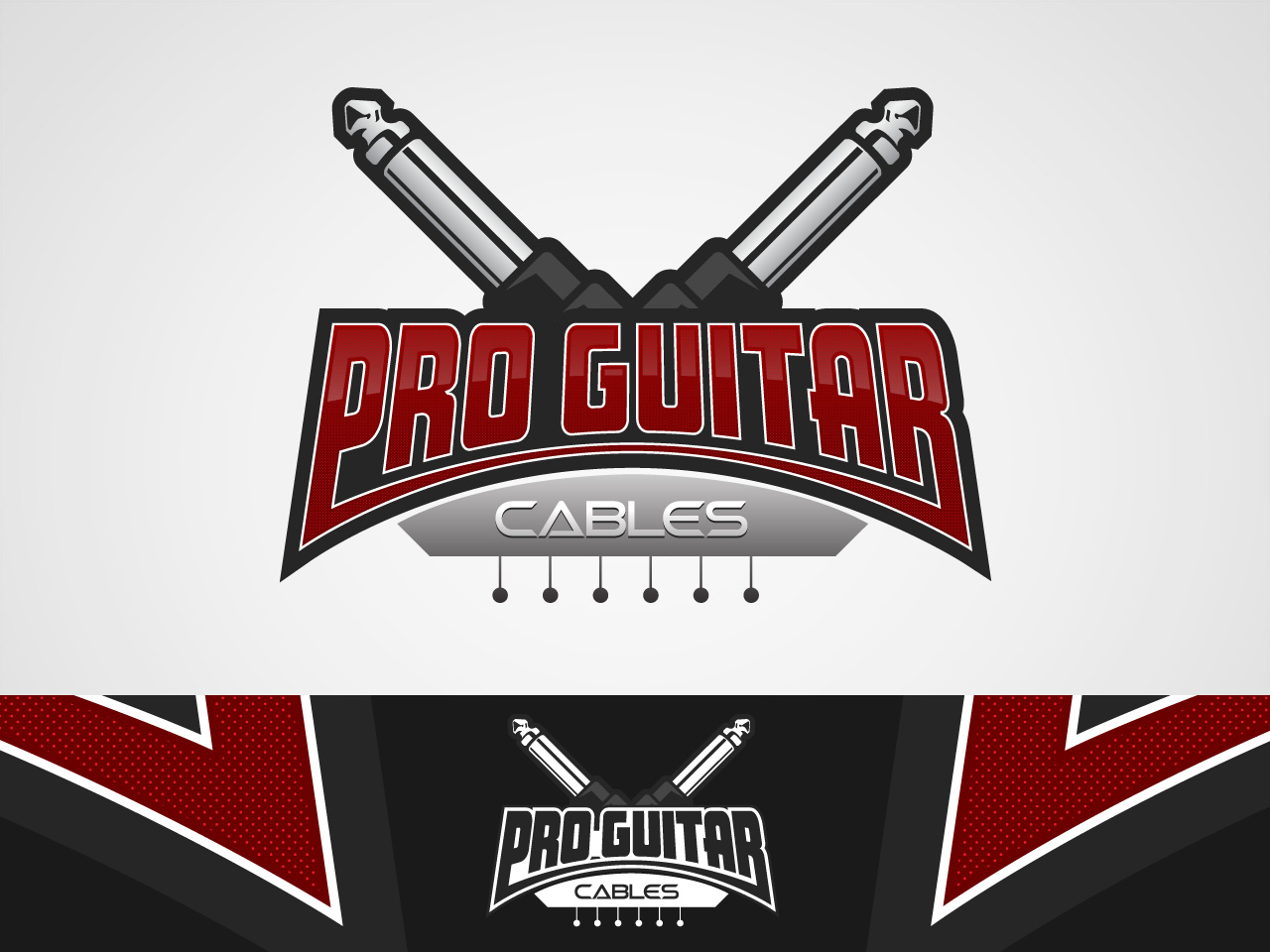 Logo Design by jpbituin - Entry No. 79 in the Logo Design Contest Pro Guitar Cables Logo Design.