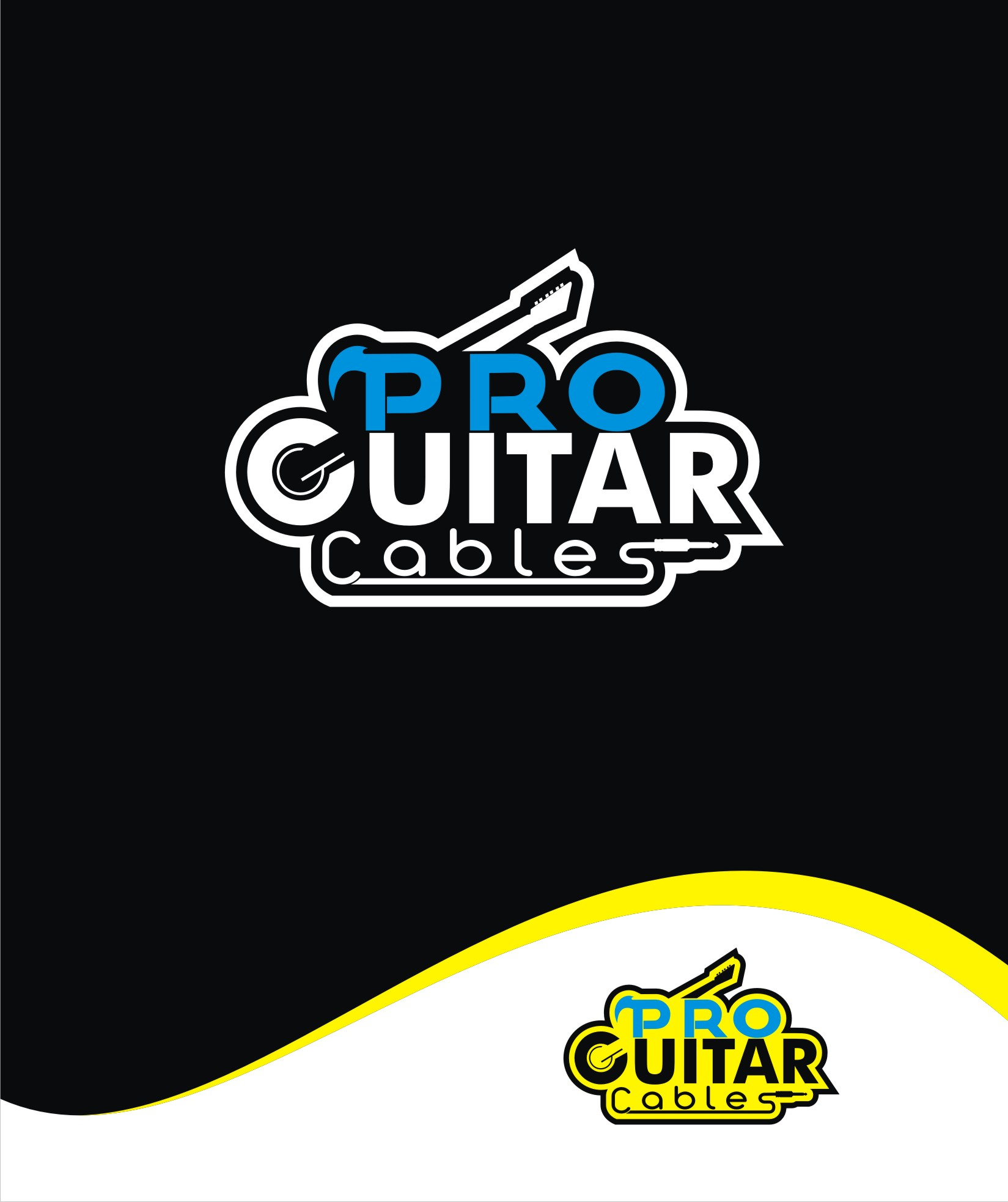 Logo Design by Private User - Entry No. 80 in the Logo Design Contest Pro Guitar Cables Logo Design.