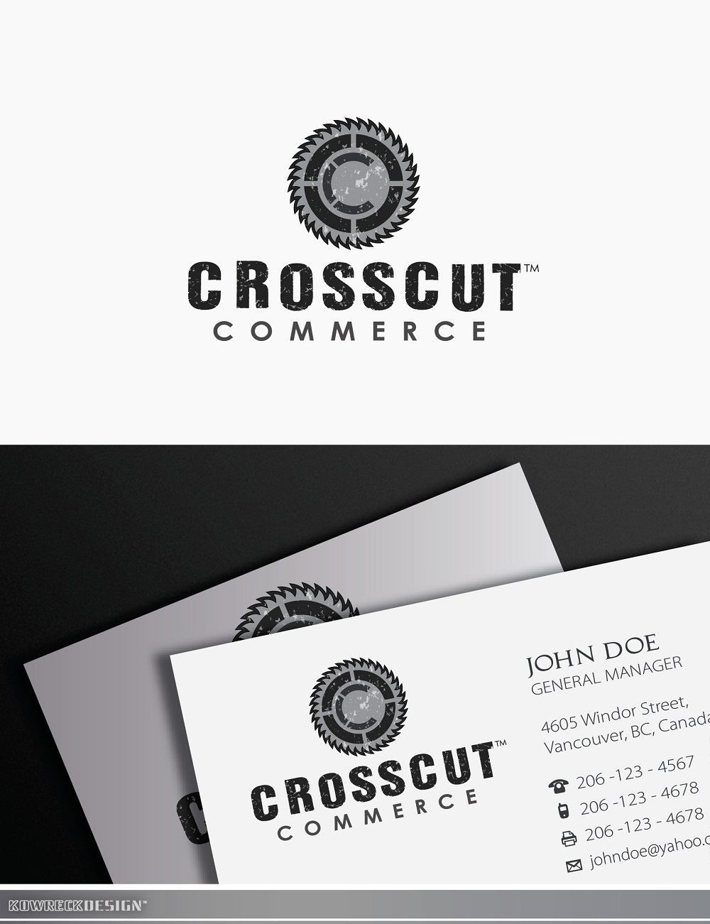 Logo Design by kowreck - Entry No. 48 in the Logo Design Contest New Logo Design for CrossCut Commerce.