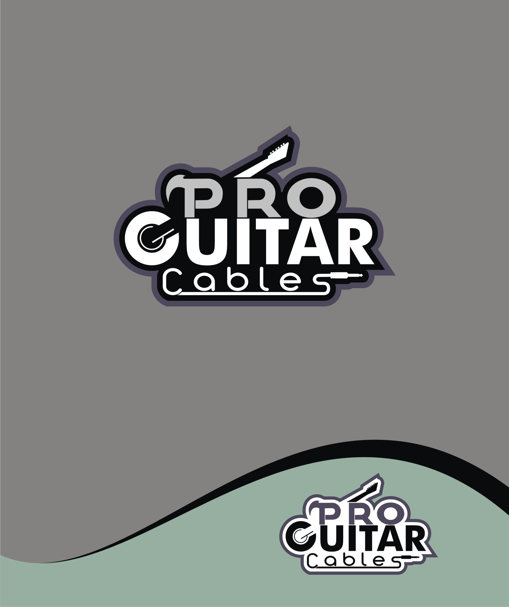 Logo Design by Private User - Entry No. 81 in the Logo Design Contest Pro Guitar Cables Logo Design.