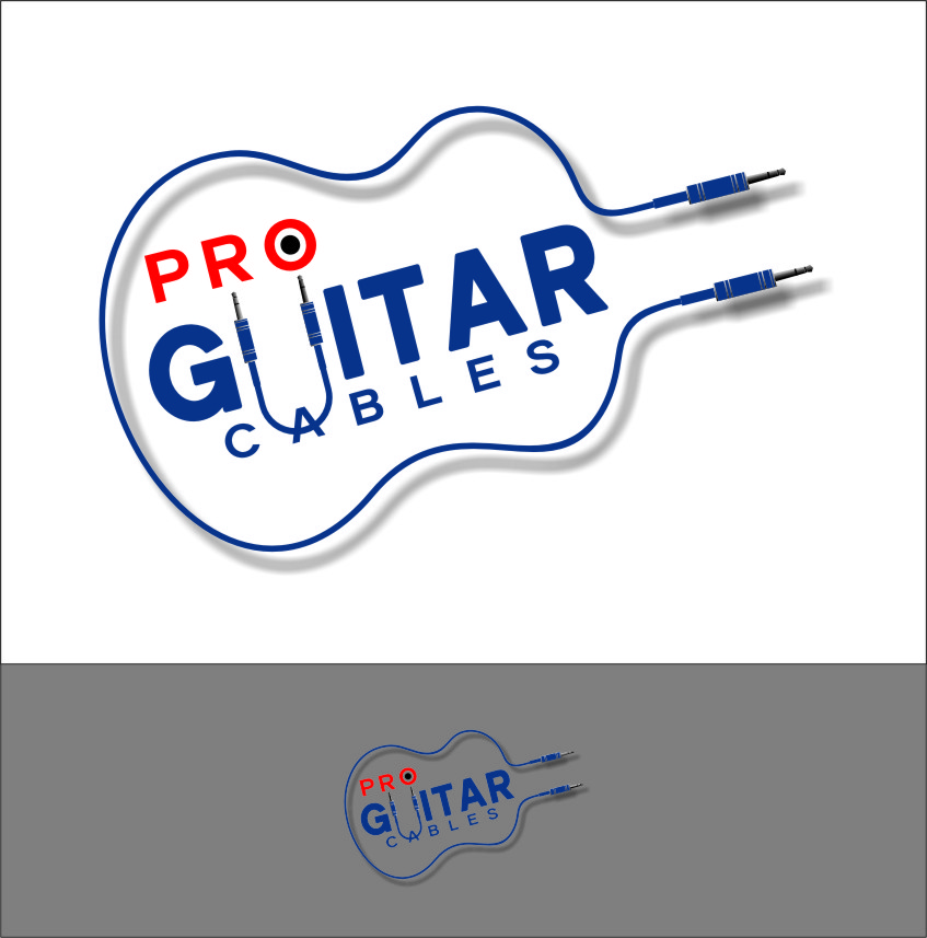 Logo Design by RasYa Muhammad Athaya - Entry No. 85 in the Logo Design Contest Pro Guitar Cables Logo Design.