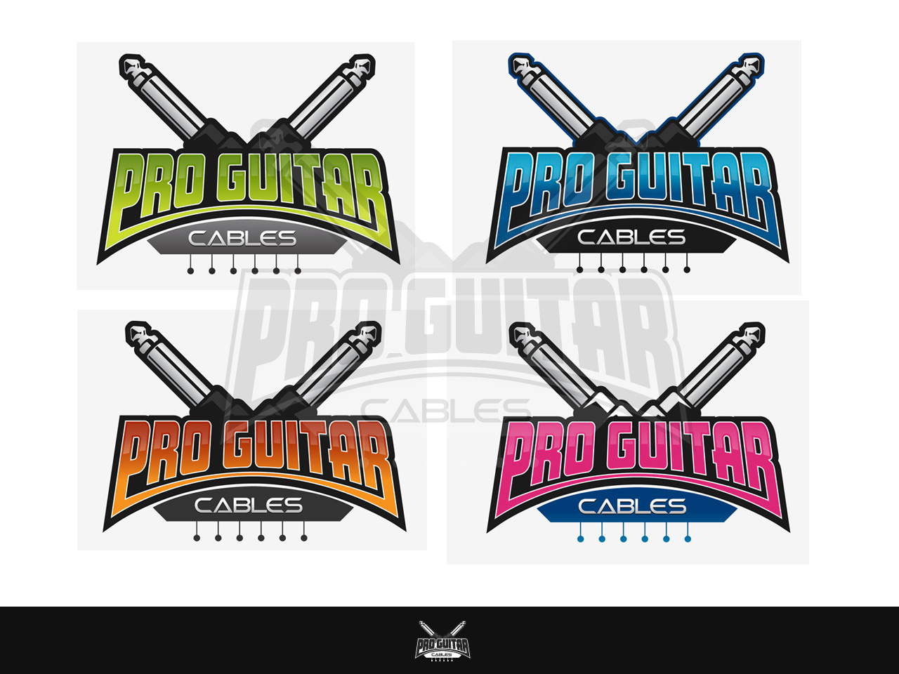 Logo Design by jpbituin - Entry No. 87 in the Logo Design Contest Pro Guitar Cables Logo Design.