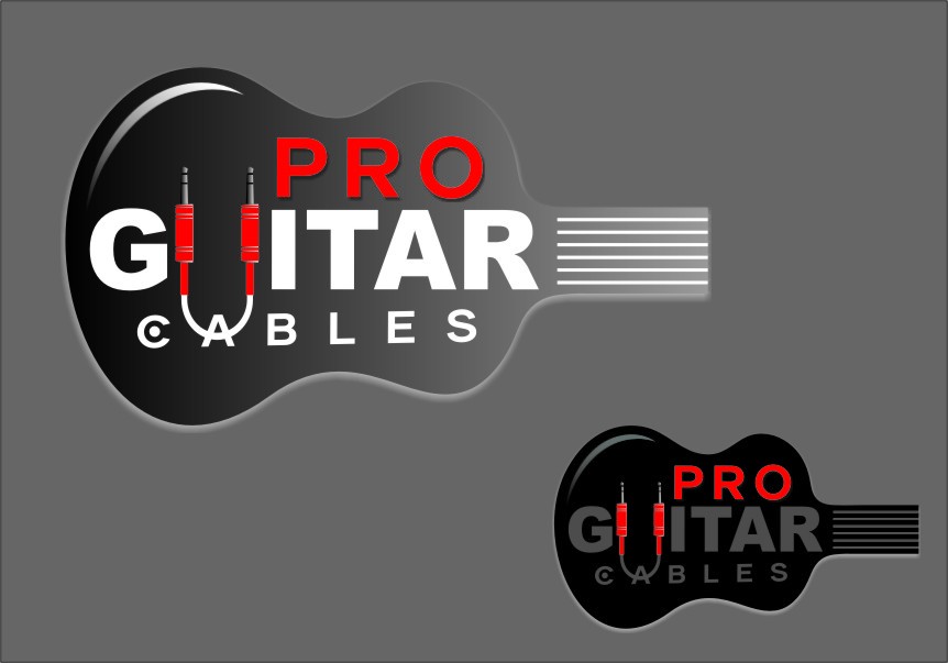 Logo Design by RasYa Muhammad Athaya - Entry No. 88 in the Logo Design Contest Pro Guitar Cables Logo Design.