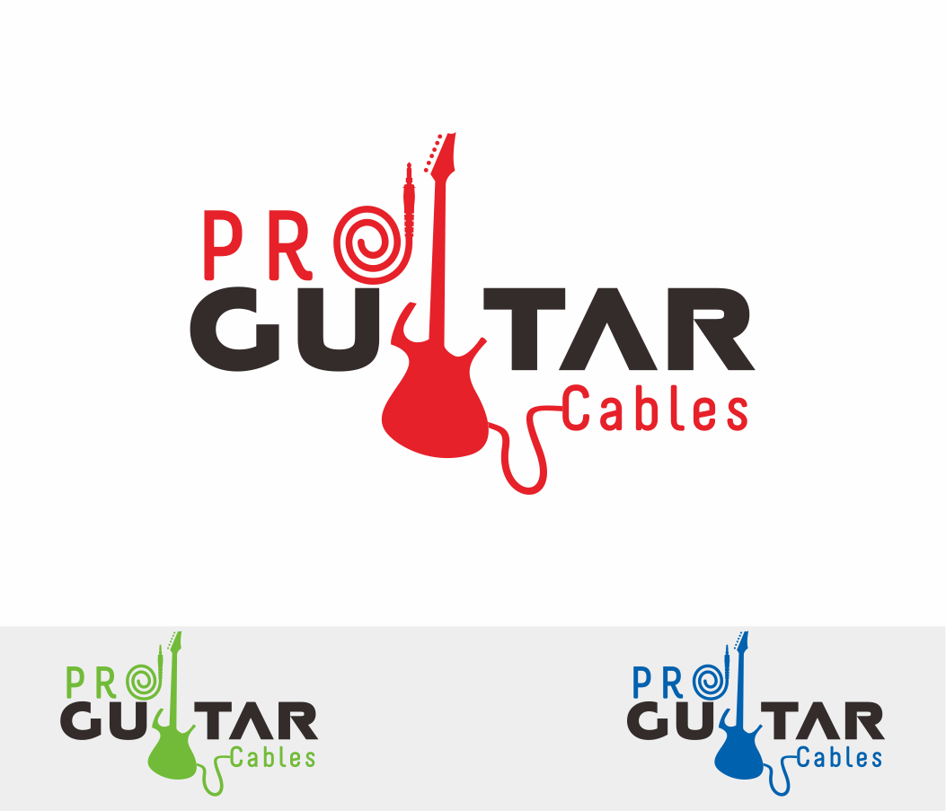 Logo Design by Armada Jamaluddin - Entry No. 92 in the Logo Design Contest Pro Guitar Cables Logo Design.