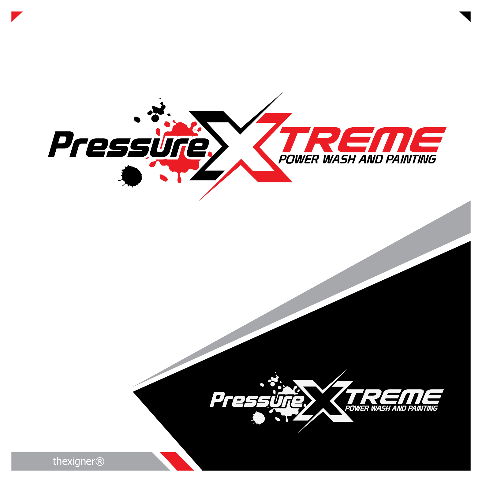 Logo Design by lagalag - Entry No. 48 in the Logo Design Contest New Logo Design for PRESSUREXTREME.