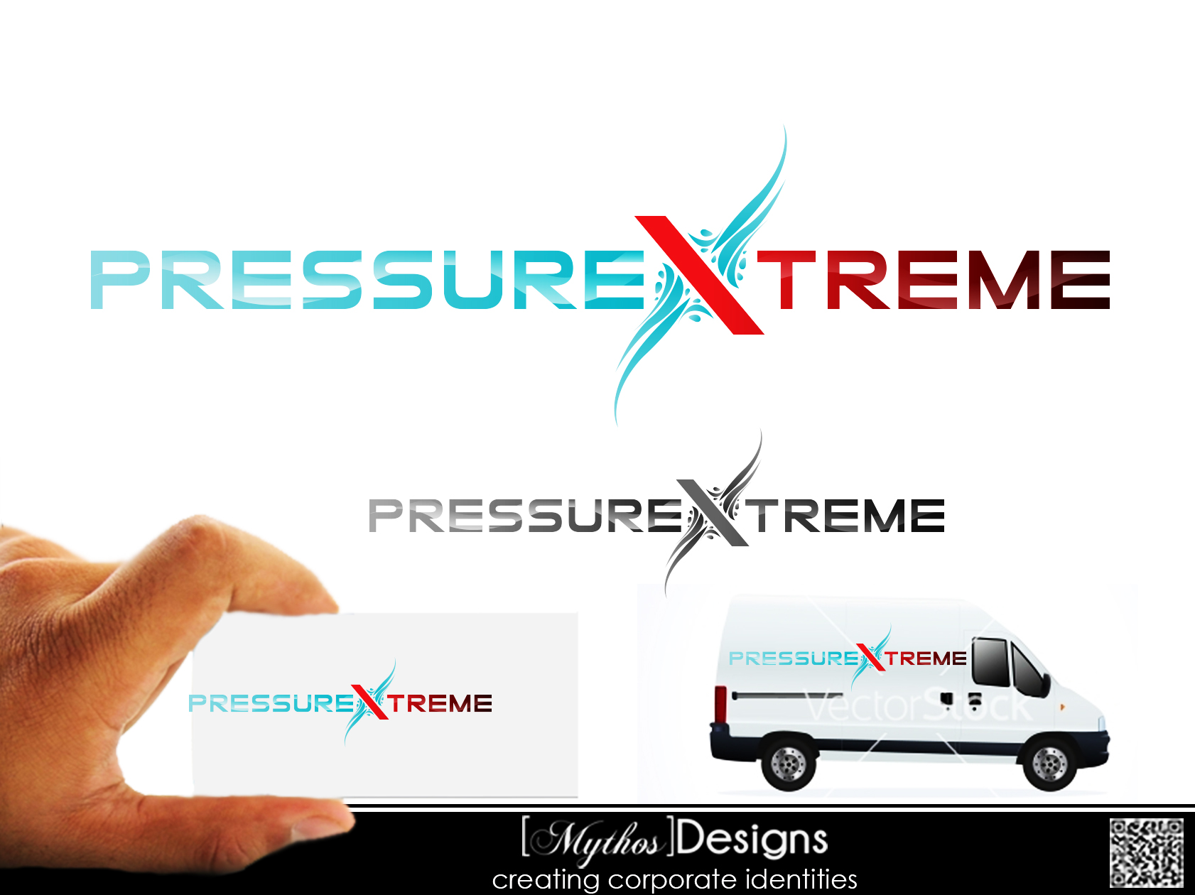 Logo Design by Mythos Designs - Entry No. 52 in the Logo Design Contest New Logo Design for PRESSUREXTREME.