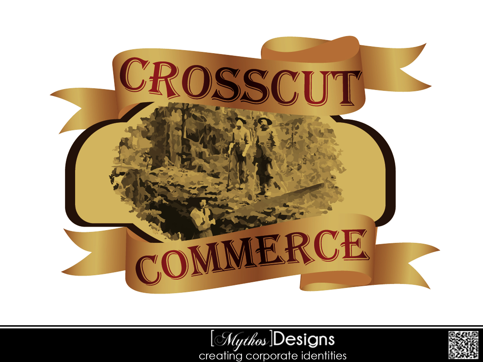 Logo Design by Mythos Designs - Entry No. 52 in the Logo Design Contest New Logo Design for CrossCut Commerce.