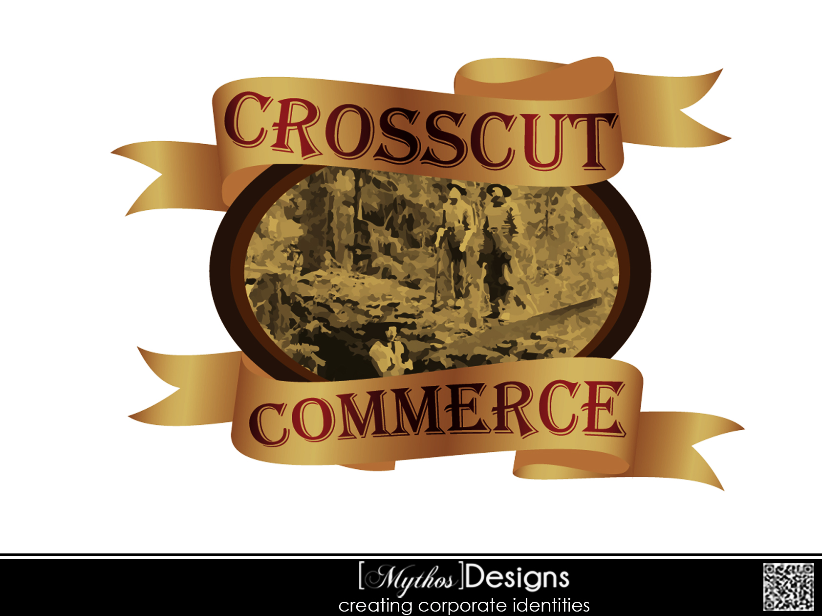 Logo Design by Mythos Designs - Entry No. 53 in the Logo Design Contest New Logo Design for CrossCut Commerce.