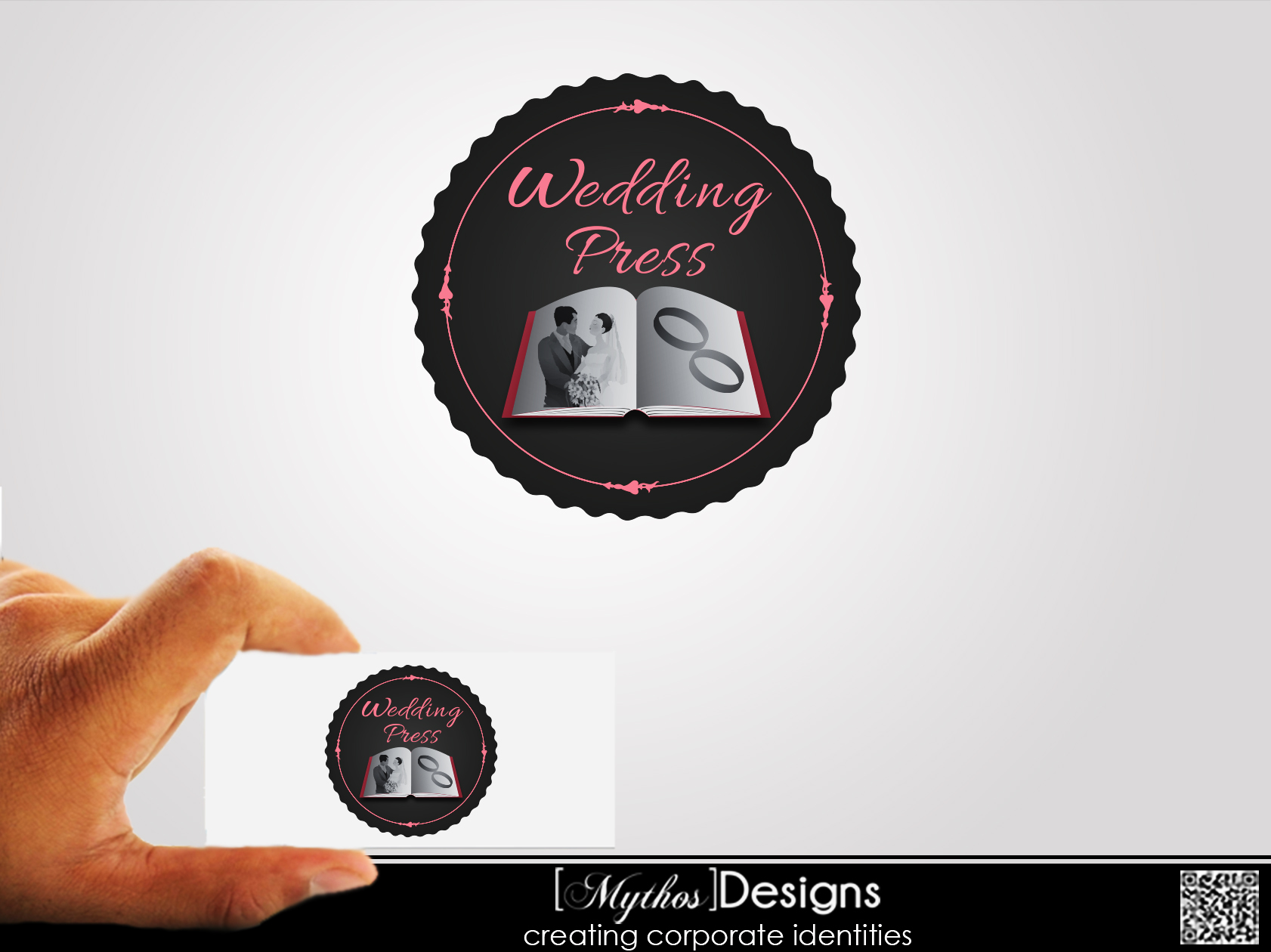 Logo Design by Mythos Designs - Entry No. 9 in the Logo Design Contest Wedding Writes Logo Design.