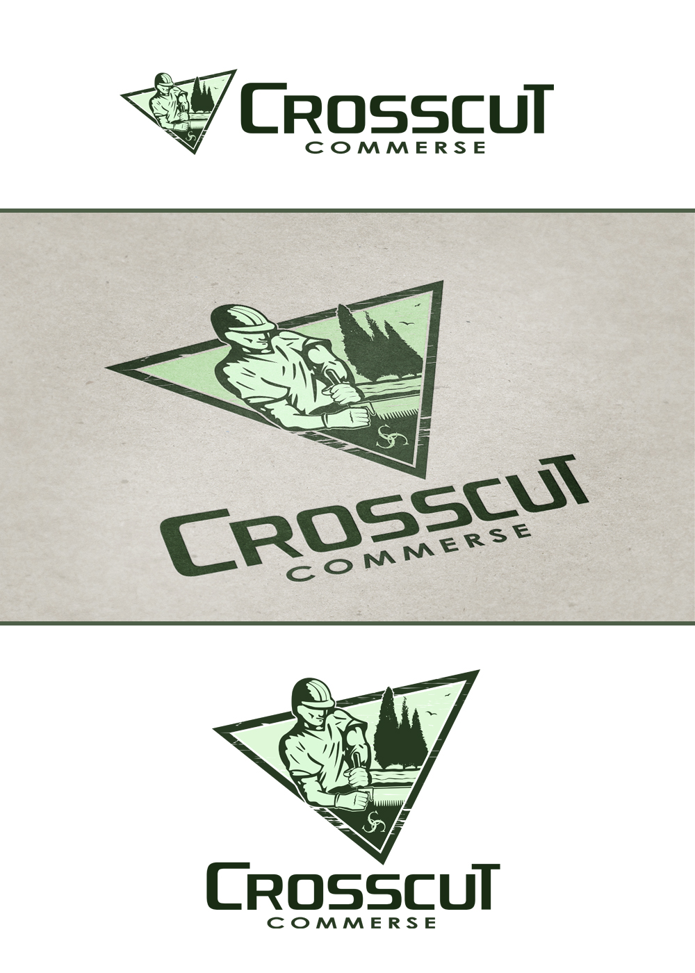 Logo Design by omARTist - Entry No. 60 in the Logo Design Contest New Logo Design for CrossCut Commerce.