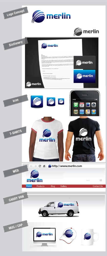 Logo Design by Private User - Entry No. 61 in the Logo Design Contest Imaginative Logo Design for Merlin.
