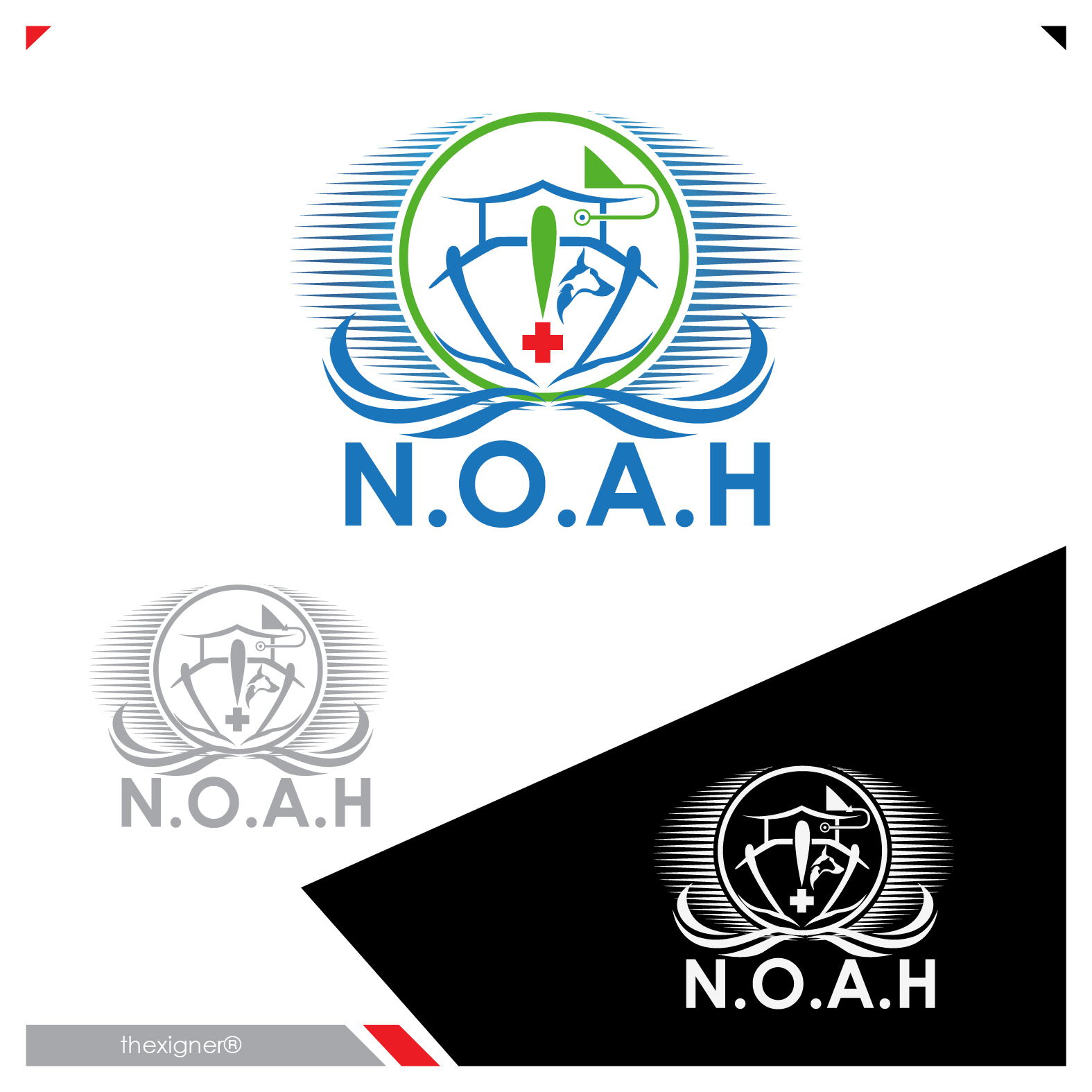 Logo Design by lagalag - Entry No. 61 in the Logo Design Contest Fun Logo Design for N.O.A.H..