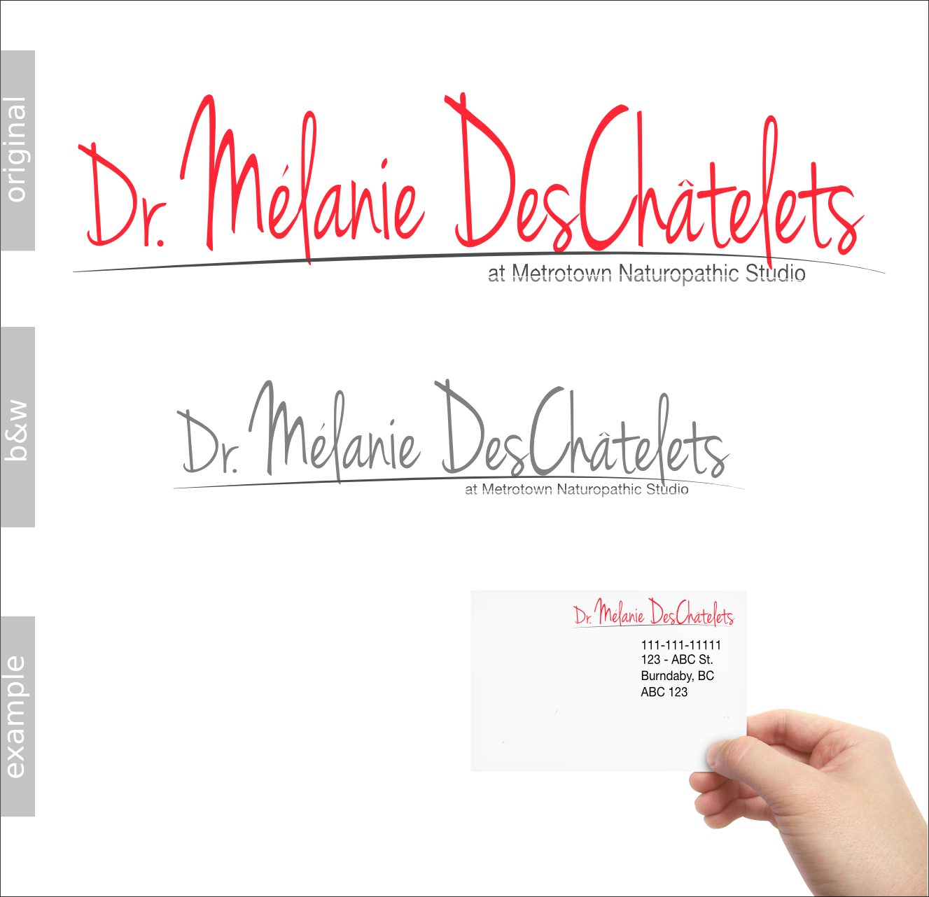 Logo Design by Andrew Bertram - Entry No. 1 in the Logo Design Contest Artistic Logo Design for Dr Mélanie DesChâtelets.