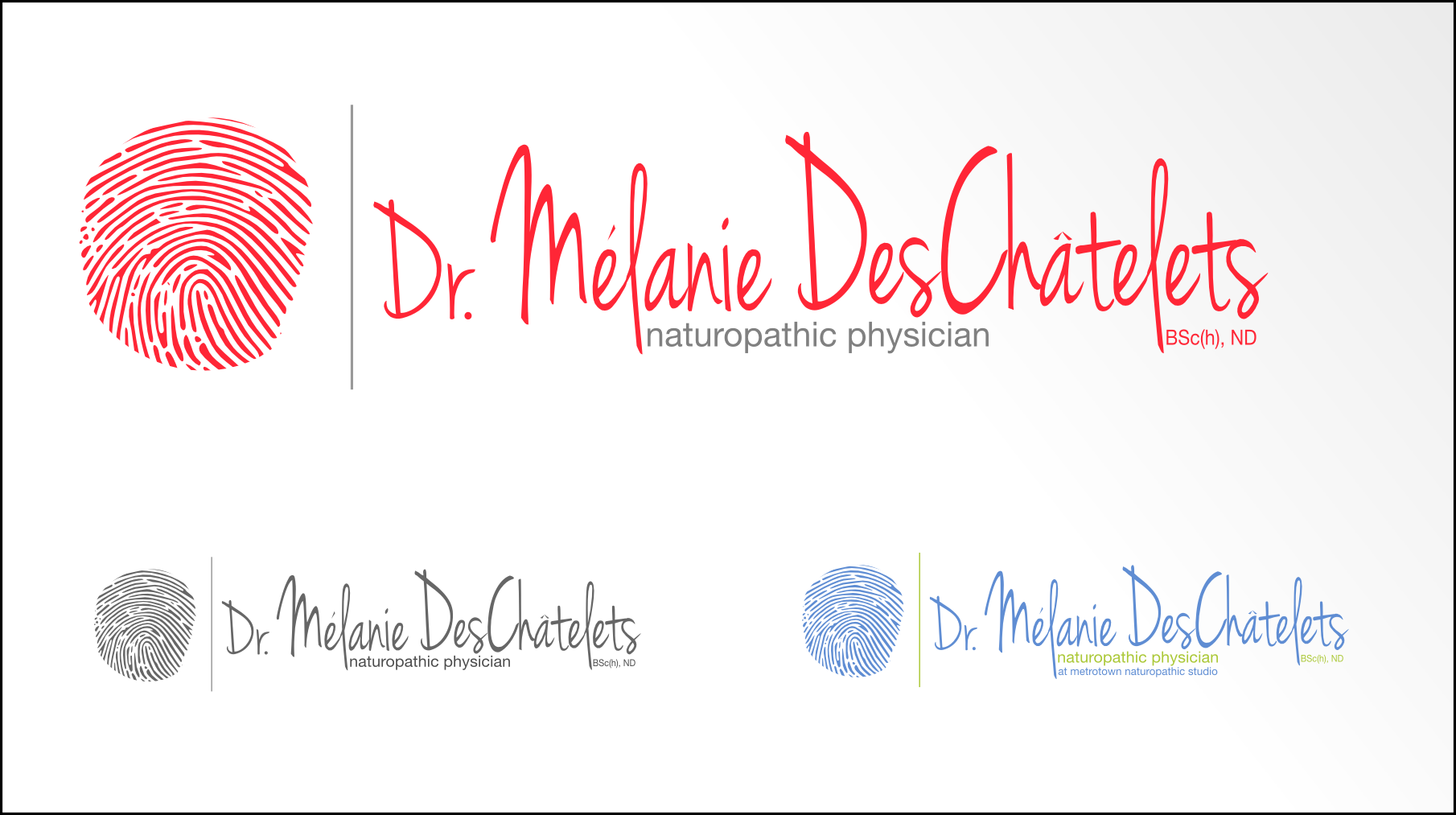Logo Design by Andrew Bertram - Entry No. 3 in the Logo Design Contest Artistic Logo Design for Dr Mélanie DesChâtelets.