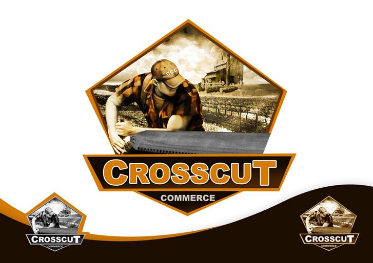 Logo Design by Mark Anthony Moreto Jordan - Entry No. 72 in the Logo Design Contest New Logo Design for CrossCut Commerce.