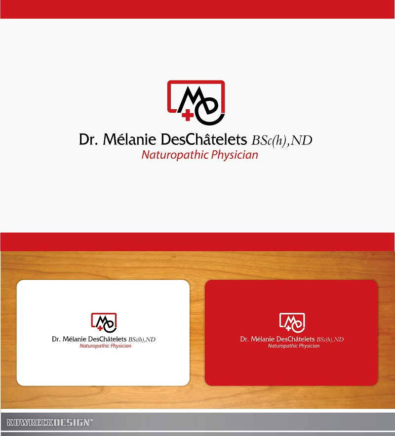 Logo Design by kowreck - Entry No. 11 in the Logo Design Contest Artistic Logo Design for Dr Mélanie DesChâtelets.