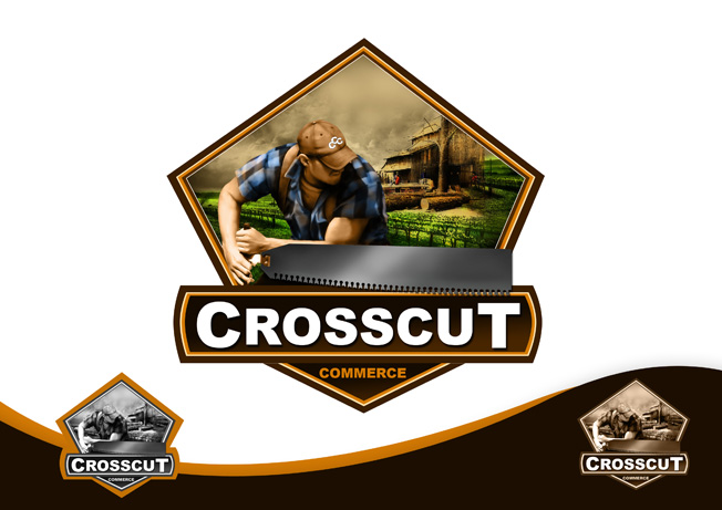 Logo Design by Mark Anthony Moreto Jordan - Entry No. 77 in the Logo Design Contest New Logo Design for CrossCut Commerce.