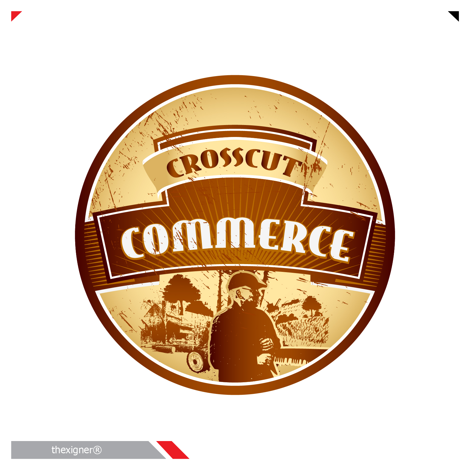 Logo Design by lagalag - Entry No. 78 in the Logo Design Contest New Logo Design for CrossCut Commerce.