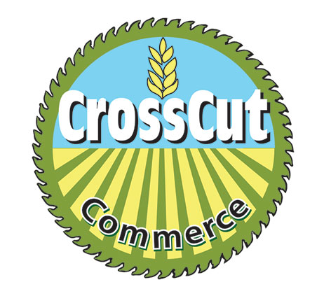 Logo Design by Mohamed Sheikh - Entry No. 79 in the Logo Design Contest New Logo Design for CrossCut Commerce.