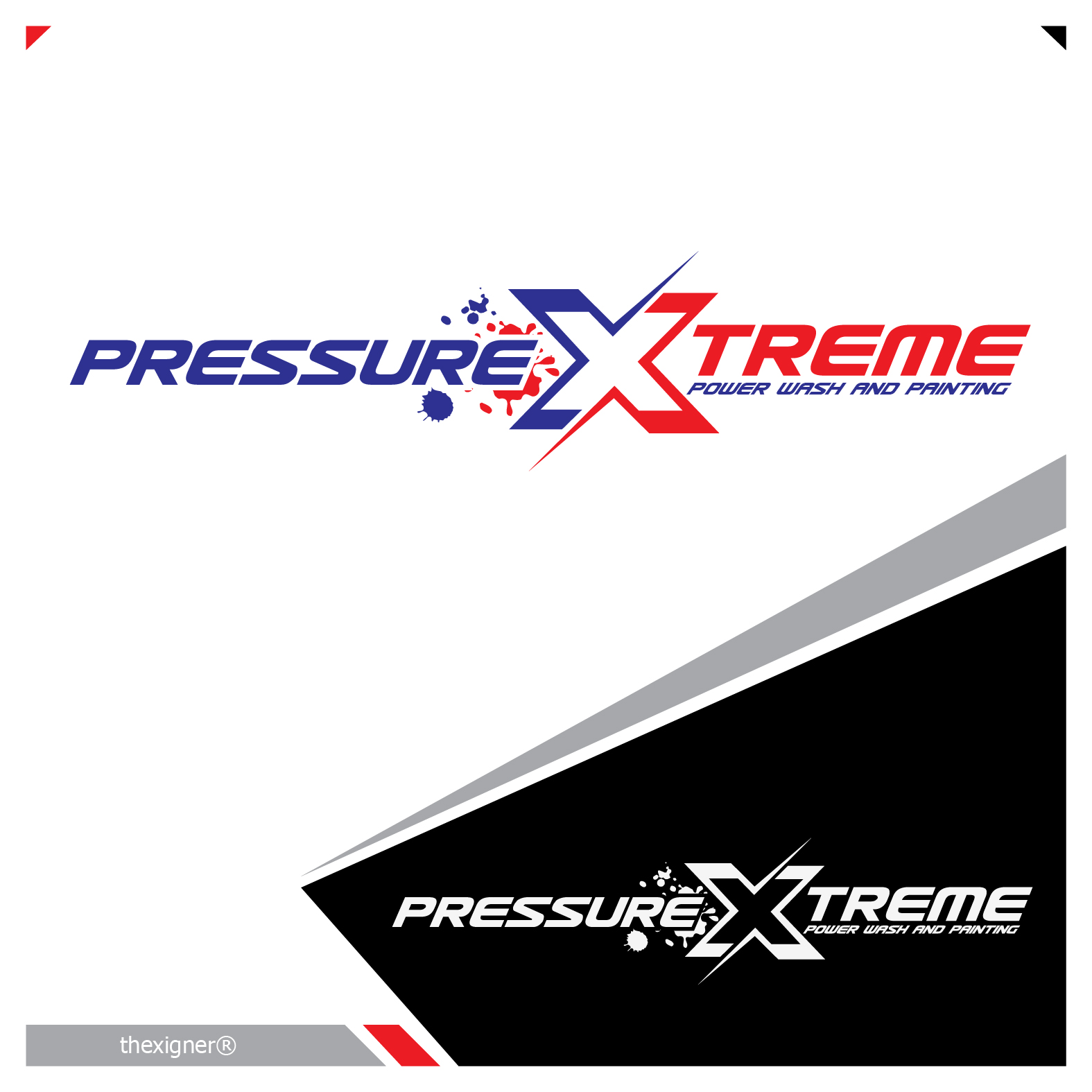 Logo Design by lagalag - Entry No. 97 in the Logo Design Contest New Logo Design for PRESSUREXTREME.