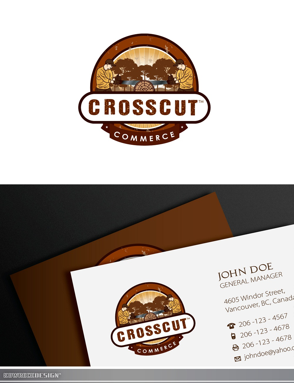 Logo Design by kowreck - Entry No. 82 in the Logo Design Contest New Logo Design for CrossCut Commerce.