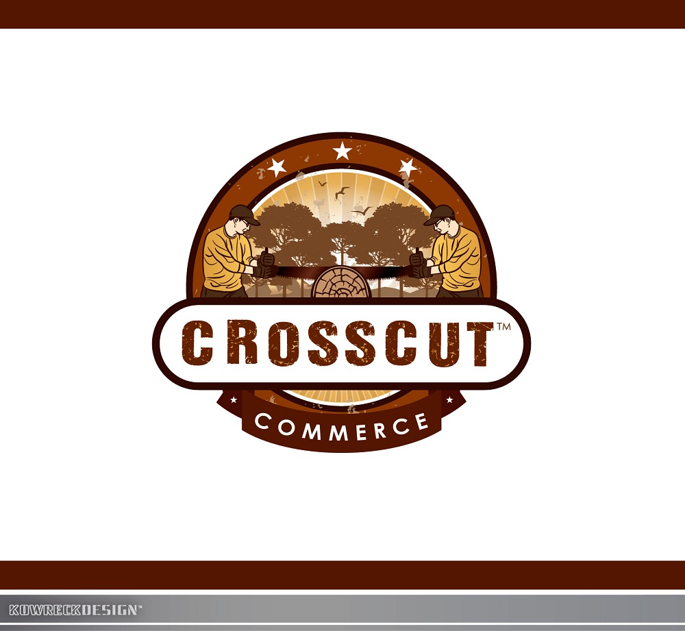 Logo Design by kowreck - Entry No. 83 in the Logo Design Contest New Logo Design for CrossCut Commerce.