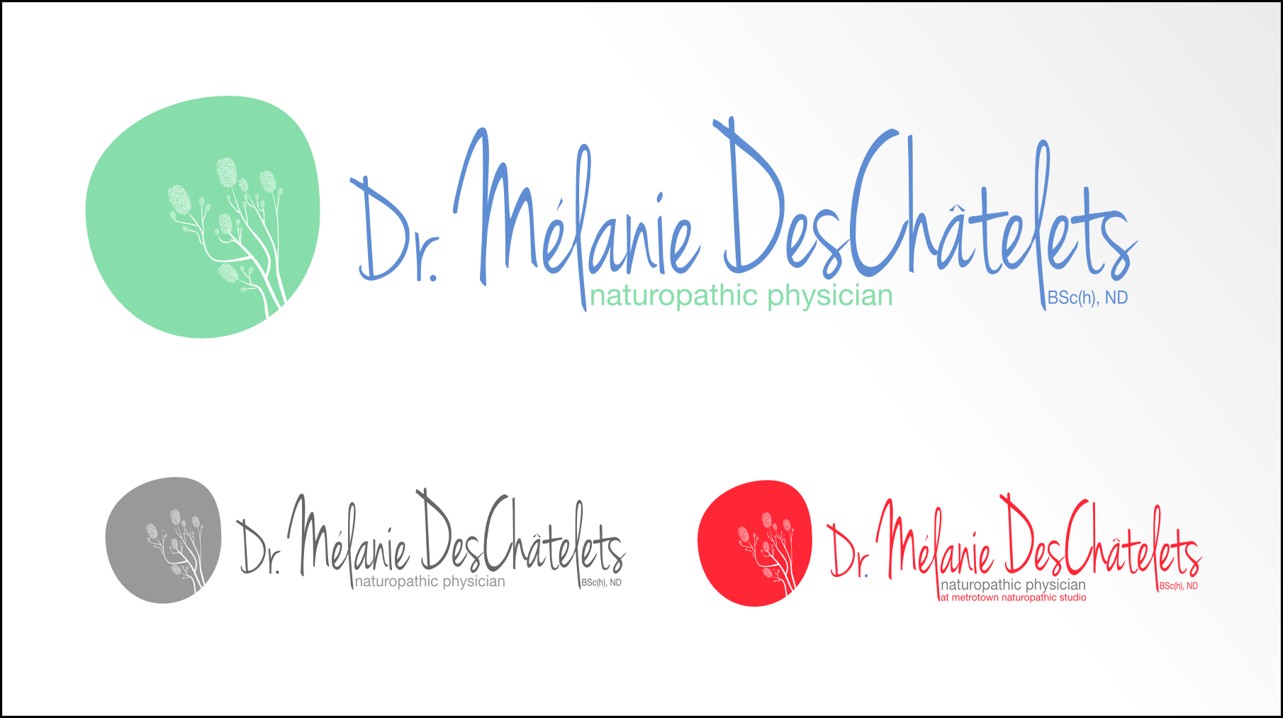 Logo Design by Andrew Bertram - Entry No. 15 in the Logo Design Contest Artistic Logo Design for Dr Mélanie DesChâtelets.