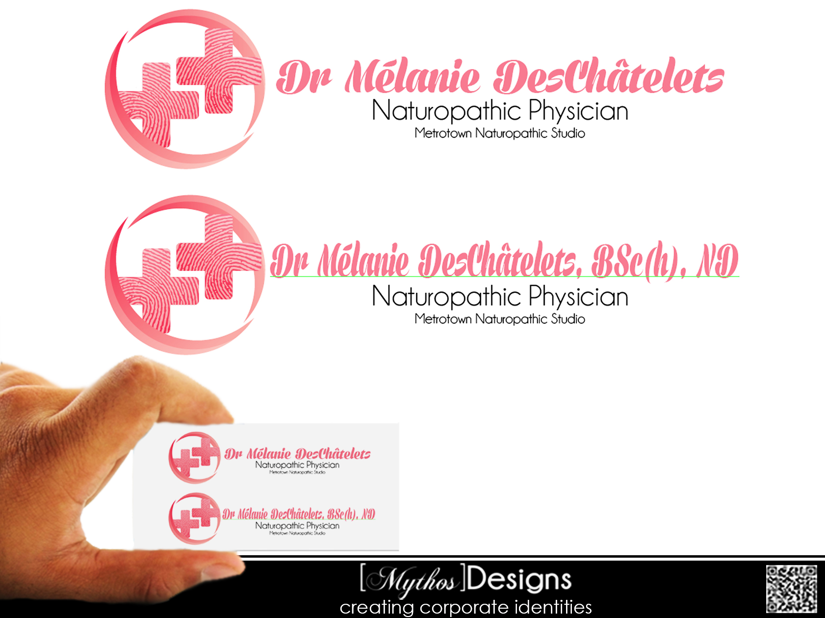 Logo Design by Mythos Designs - Entry No. 16 in the Logo Design Contest Artistic Logo Design for Dr Mélanie DesChâtelets.